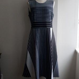 CALVIN KLEIN scuba fit & flare dress
